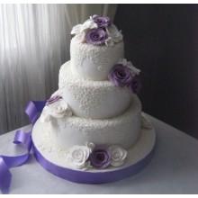СВ 963 Торт свадебный сиреневые цветы