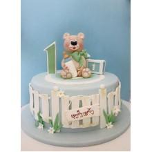 СМ 06 торт на годик с мишкой