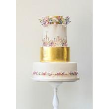 БСВ 98 Торт свадебный с золотом