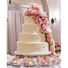 БСВ 55 Торт свадебный с большими розами
