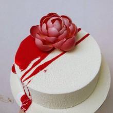 Торт стильный с розой
