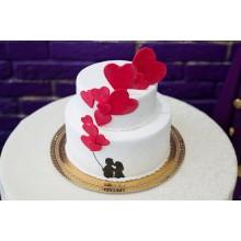 Торт на свадьбу романтичный