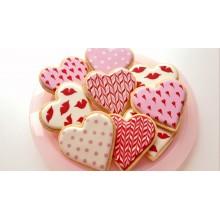 Печенья в виде сердечек