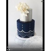 СВ 843 Торт свадебный сине - белый