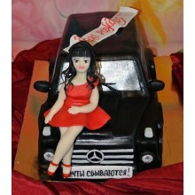 РМ 041 Торт машина с девушкой