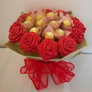 БУ 6 Букет из конфет шикарные розы