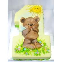 СМ 872 Торт на годик с медвежонком