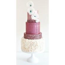 БСВ 89 Торт свадебный розовый блеск