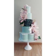БСВ 4153 Торт свадебный голубой
