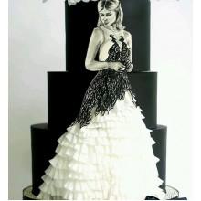 БСВ 0163 Торт свадебный с невестой