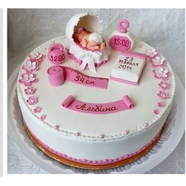 Торт на рождение дочки своими руками 445