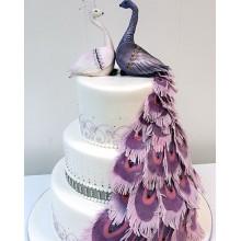 БСВ 58 Торт свадебный с павлинами