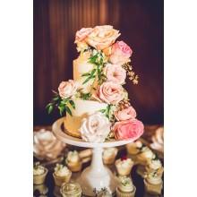 БСВ 0366 Свадебный торт с живыми цветами