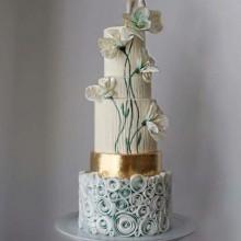 БСВ 143 Торт свадебный милые цветы