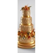 БСВ 854 Торт свадебный золотой с драгоценностями