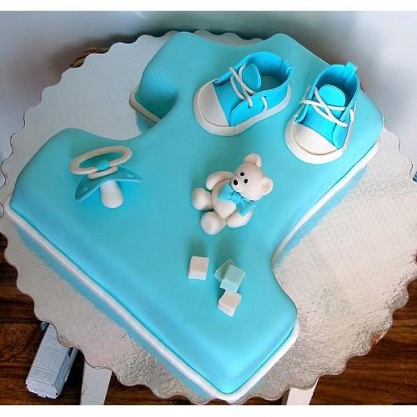 Торт на годик ребенку своими руками