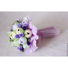 БИ 8 Букет из конфет нежно лиловый