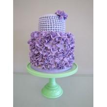 СВ 33 Торт с мелкими фиолетовыми цветочками