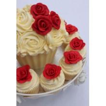 РМ 7823 Торт и капкейеи с красными розами