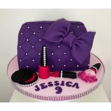 РМ 036 Торт фиолетовая косметичка