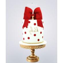 РМ 036 Торт белый с красным бантиком