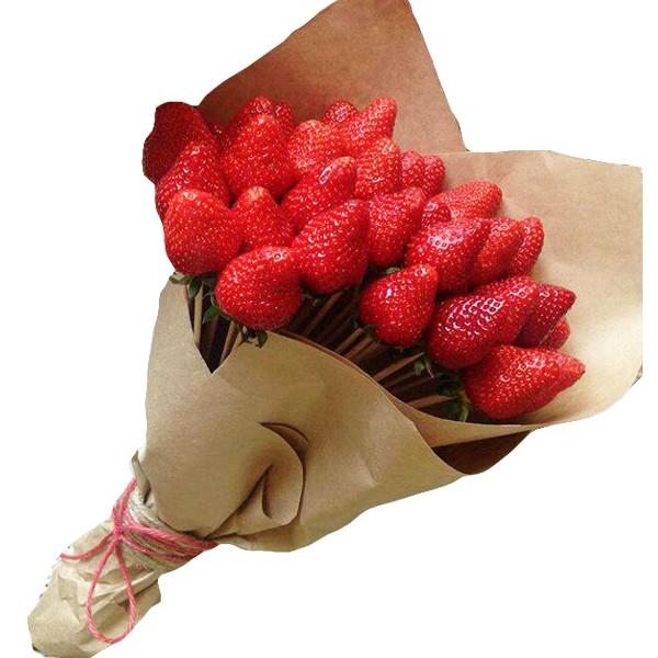 Как сделать фруктовый букет из клубники