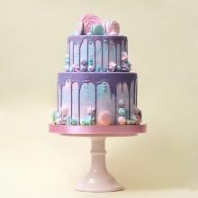 БСВ 036 Торт свадебный бирюзовый