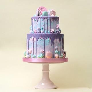 Торт с глазурью без мастики