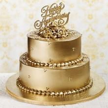 БСВ 3 Торт свадебный золотой