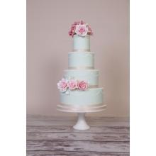 БСВ 15 Торт нежно- голубой свадебный