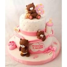 СМ 69 Нежный двухярусный торт для младенца