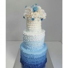 БСВ 06 Торт свадебный голубое амбре