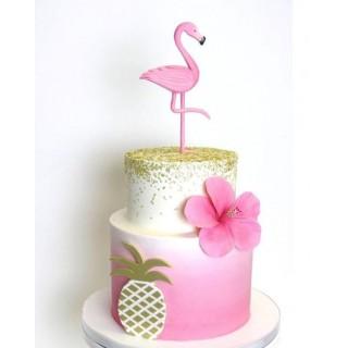 Торт с фламинго