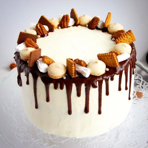 Украсить торт своими руками в домашних условиях орехами
