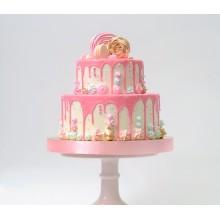 Торт розовый нежный без мастики на все случаи