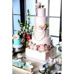 БСВ 06 Большой свадебный торт с жемчугом