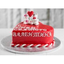 РМ 011 Торт сердце с мишками