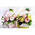 Б 26 Корзиночки с конфетами и бумажными цветами