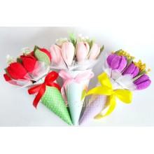 Б 23 Букеты из конфет  - Тюльпаны на 8 марта