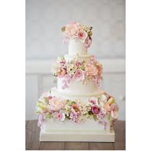 БСВ 03 Торт свадебный с цветами