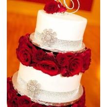 БСВ 06 Торт свадебный с живыми цветами