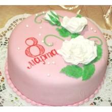 РМ 12 Торт с белой розой на 8 марта