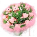 БИ 99 Букет из розовых мишек на 8 марта