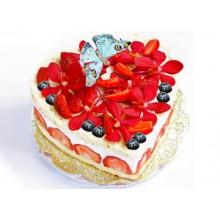РМ 012 Торт в виде сердца фруктовый