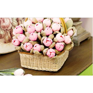 Б 69 Корзина из конфет с тюльпанами на 8марта