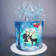 Новогодний сказочный торт