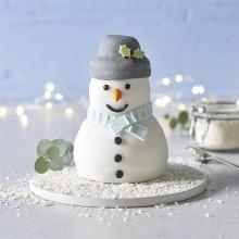 Торт в виде снеговика