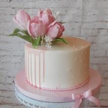 Торт Розовые тюльпаны