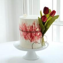 Торт Красные тюльпаны