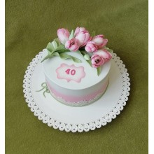 Торт Тюльпаны на 8 марта